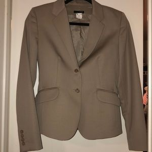 sale today! Sz2 J Crew khaki jacket stretch wool